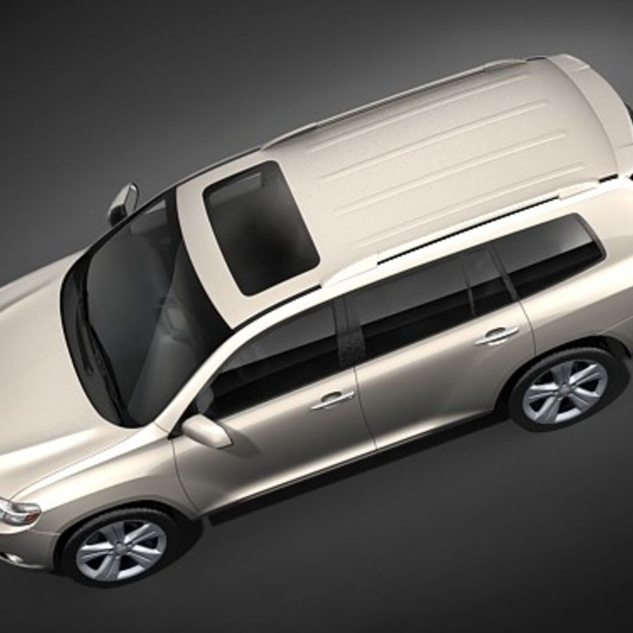 Toyota Highlander royalty-free 3d model - Preview no. 8