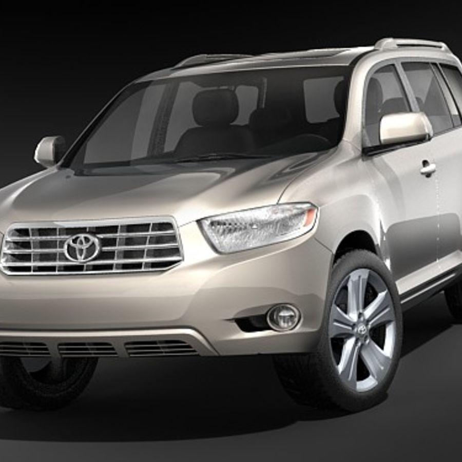 Toyota Highlander royalty-free 3d model - Preview no. 2