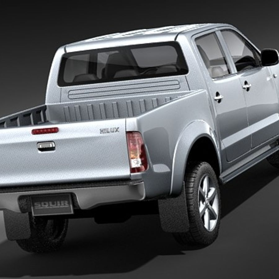 Toyota Hilux dubbel cab royalty-free 3d model - Preview no. 6