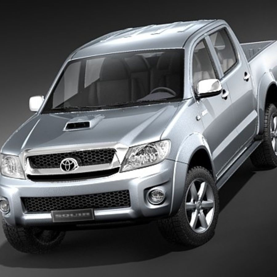 Toyota Hilux dubbel cab royalty-free 3d model - Preview no. 2