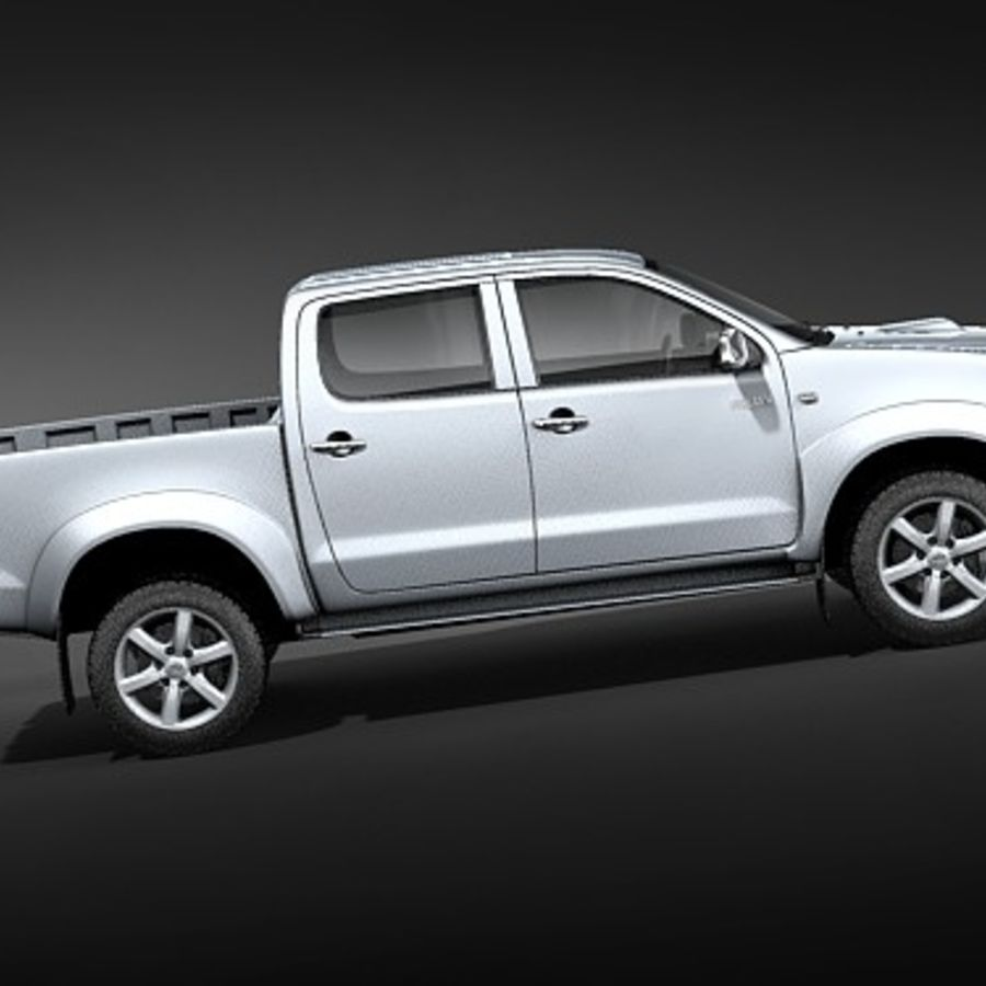 Toyota Hilux dubbel cab royalty-free 3d model - Preview no. 8