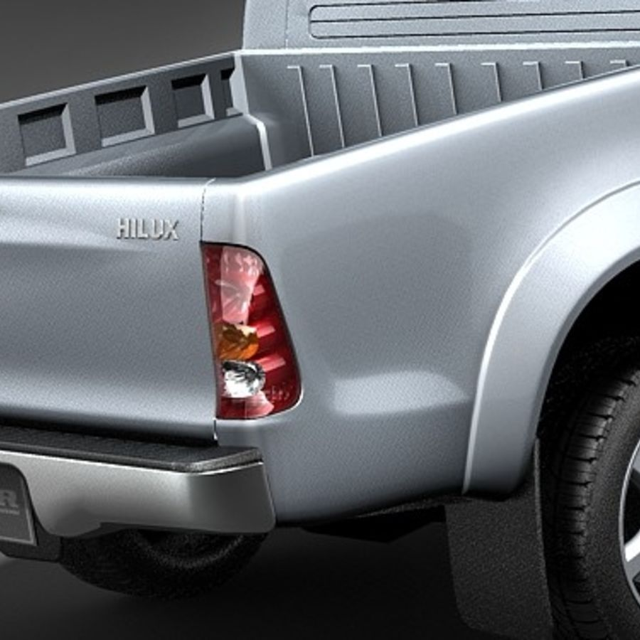 Toyota Hilux dubbel cab royalty-free 3d model - Preview no. 4