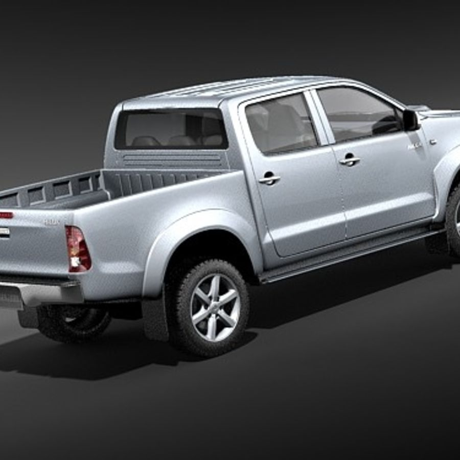 Toyota Hilux dubbel cab royalty-free 3d model - Preview no. 5
