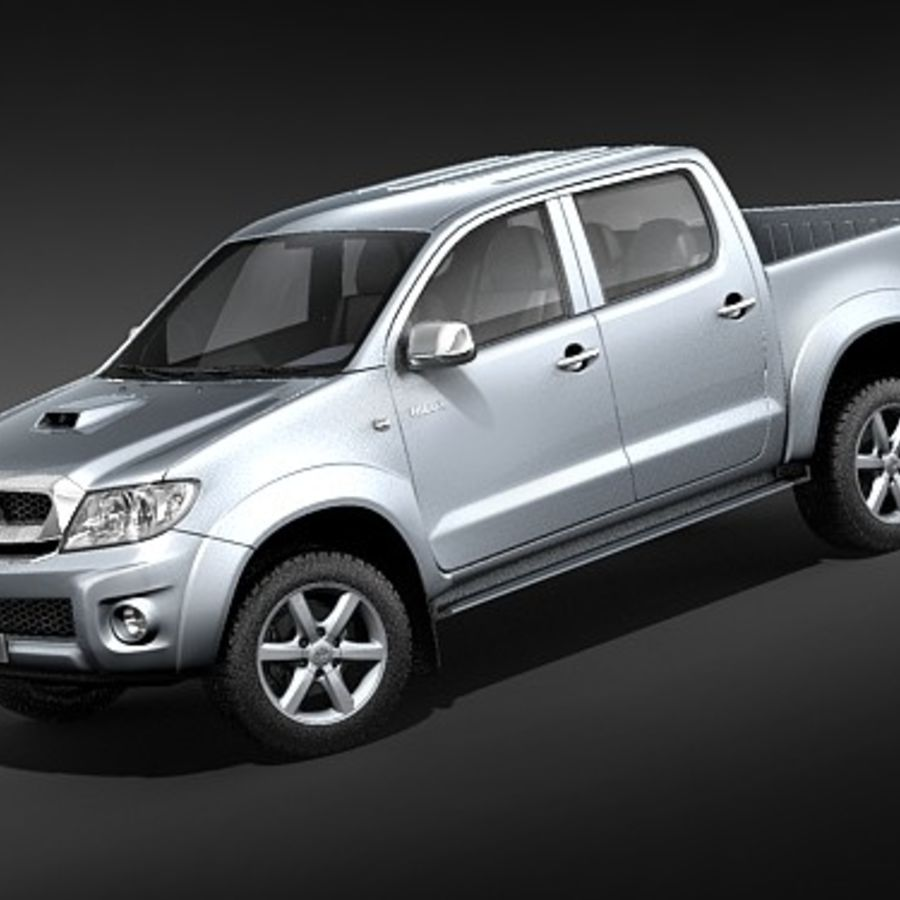 Toyota Hilux dubbel cab royalty-free 3d model - Preview no. 1