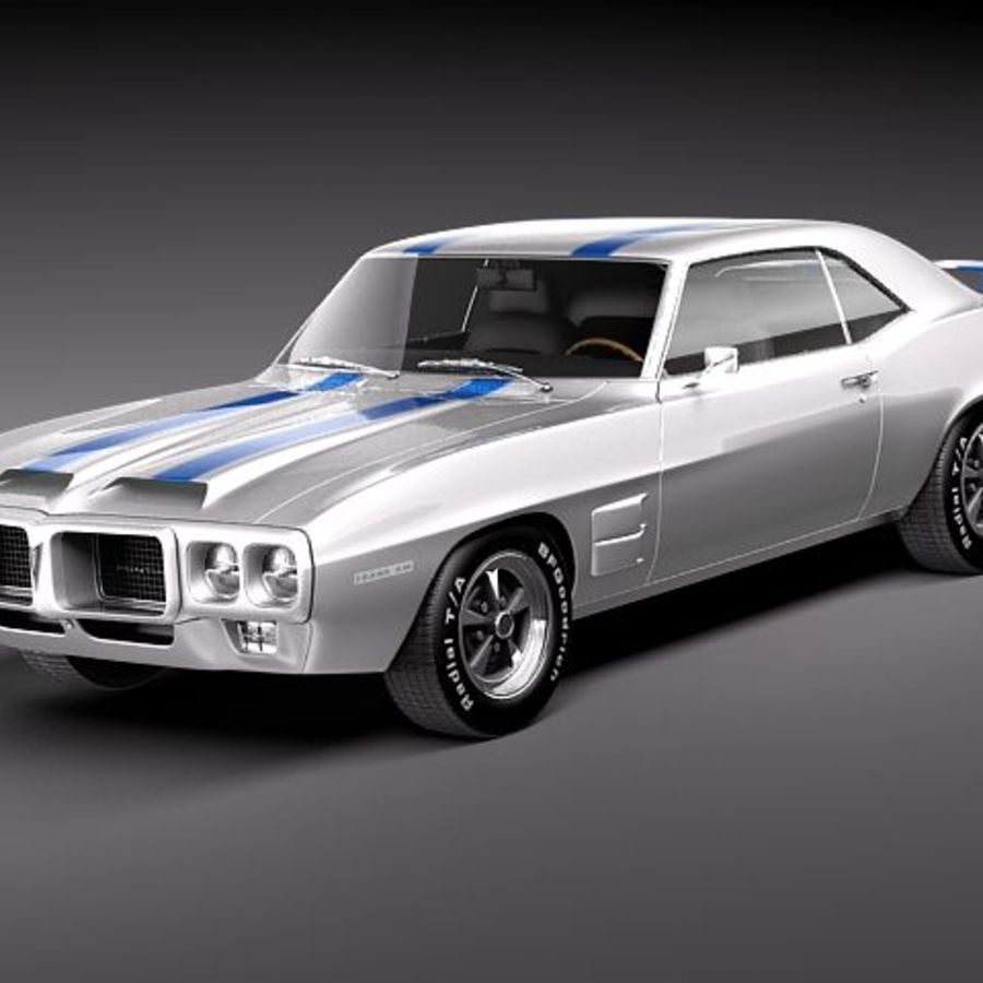 pontiac firebird trans am 1969 3d model 99 obj max. Black Bedroom Furniture Sets. Home Design Ideas