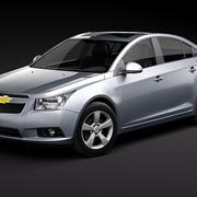 chevrolet cruze cobalt sedan chevy 2008 2009 2010 2011 sedan usa midpoly mid-poly 3d model