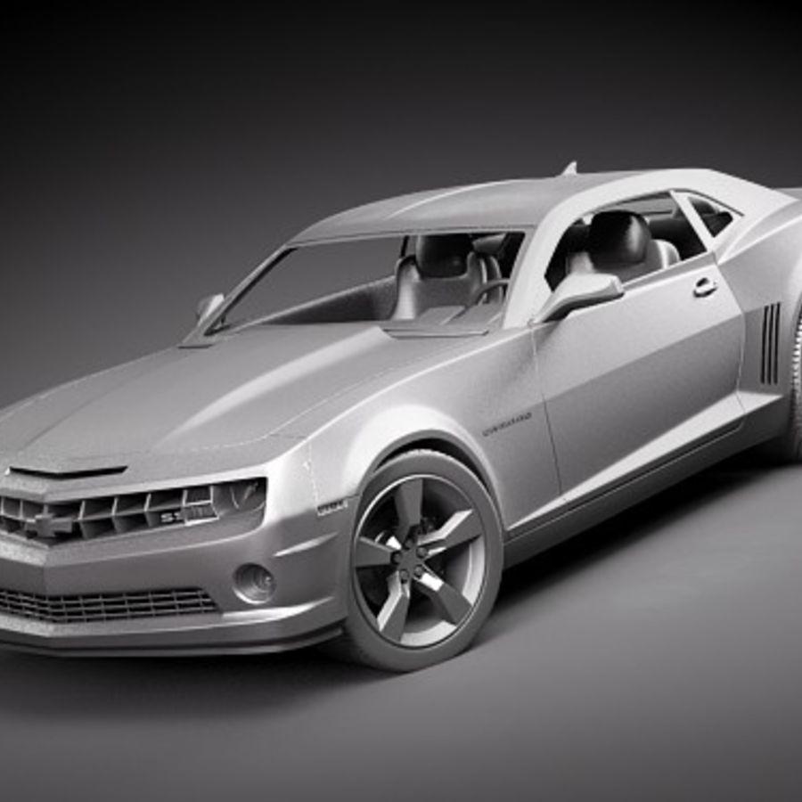 雪佛兰Camaro SS royalty-free 3d model - Preview no. 10