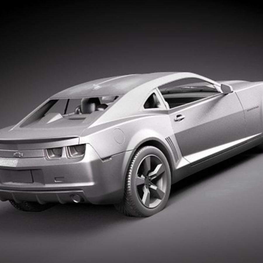 雪佛兰Camaro SS royalty-free 3d model - Preview no. 2