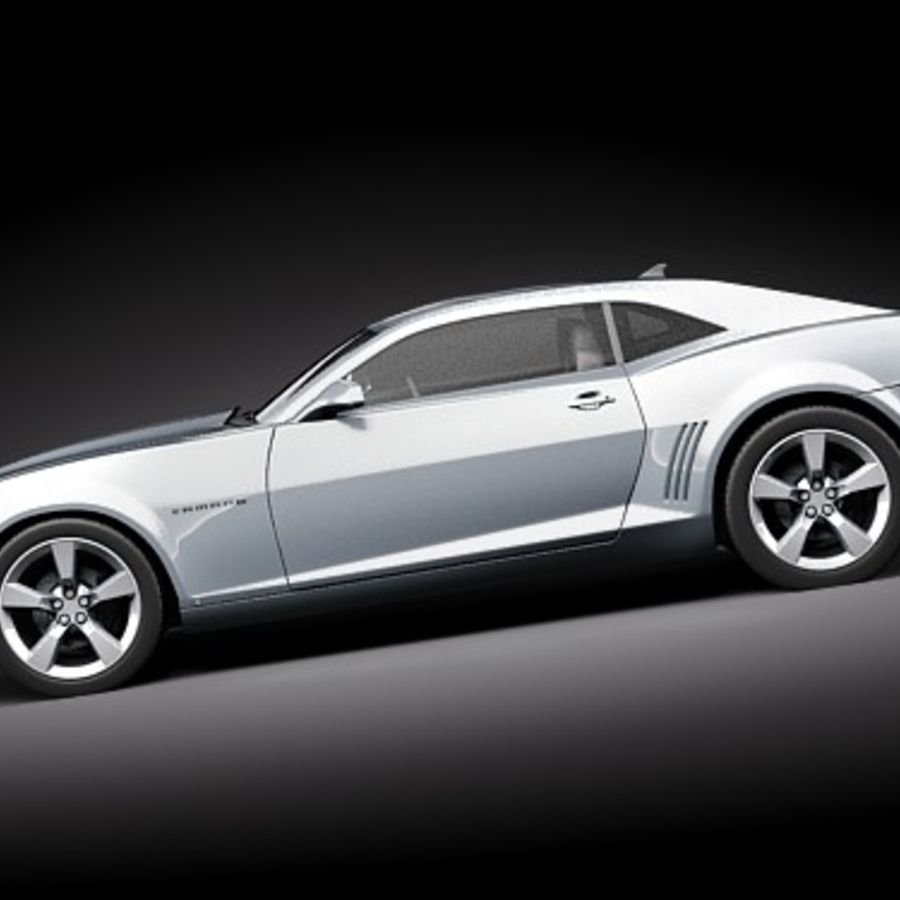 雪佛兰Camaro SS royalty-free 3d model - Preview no. 8