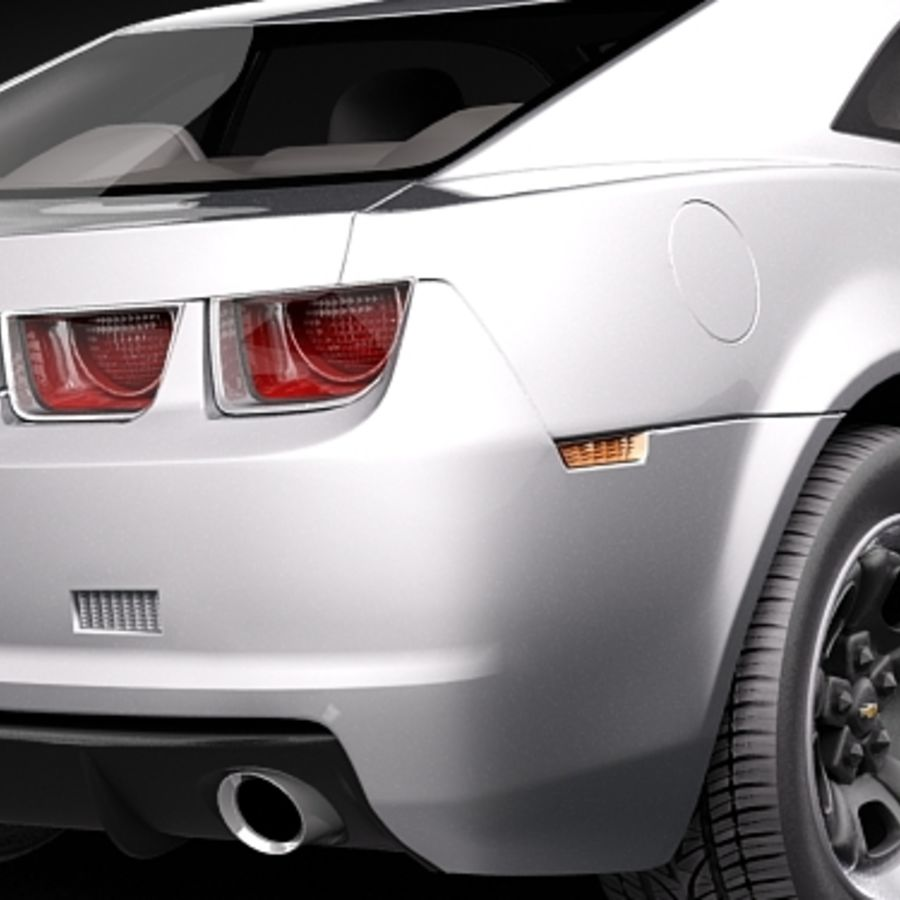 Chevrolet Camaro 2010 royalty-free 3d model - Preview no. 4