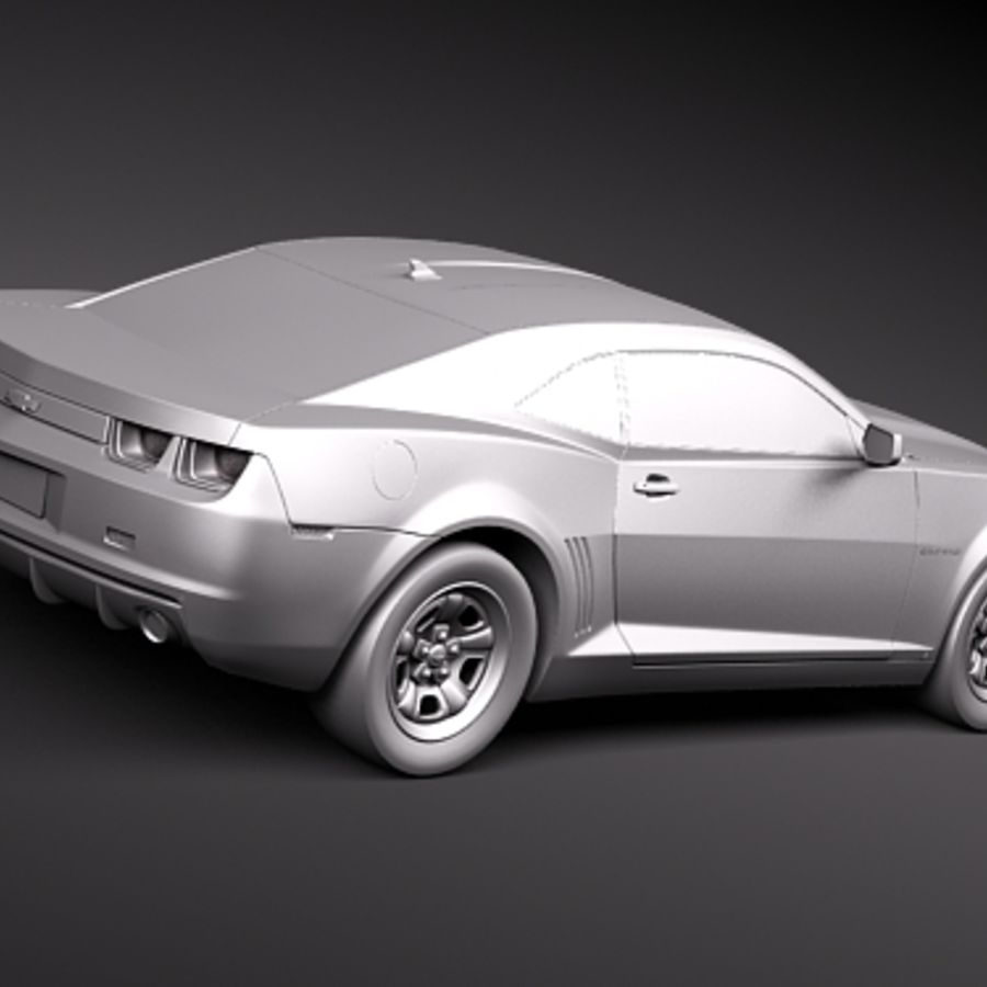 Chevrolet Camaro 2010 royalty-free 3d model - Preview no. 9