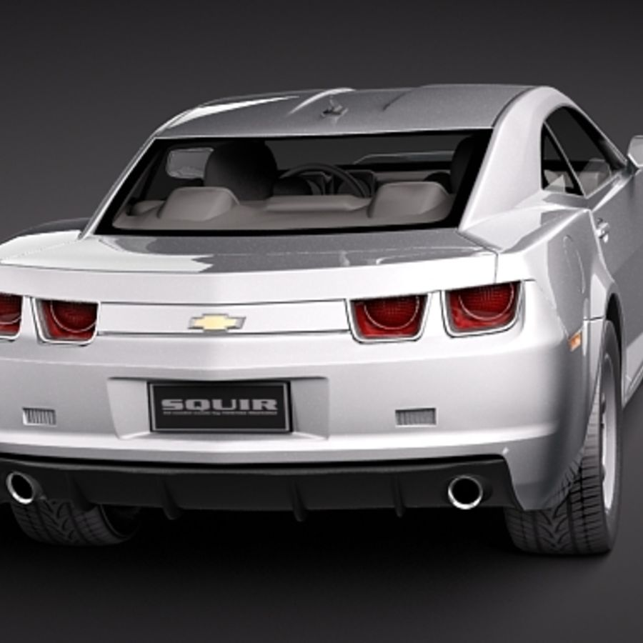 Chevrolet Camaro 2010 royalty-free 3d model - Preview no. 5