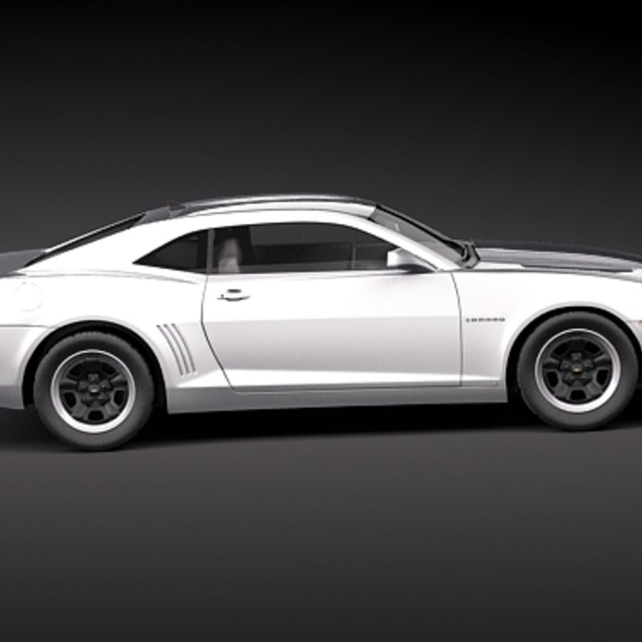 Chevrolet Camaro 2010 royalty-free 3d model - Preview no. 7