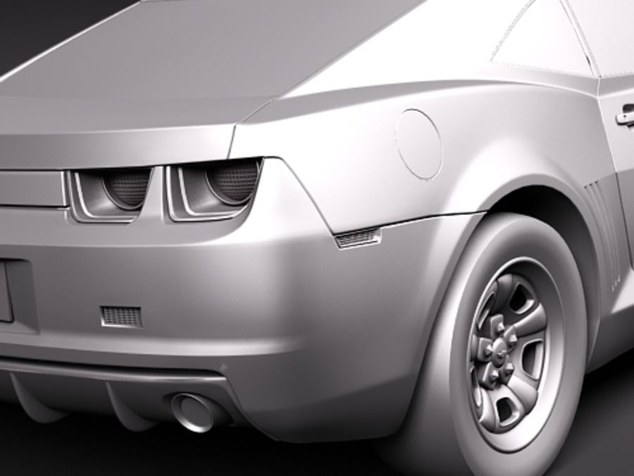 Chevrolet Camaro 2010 royalty-free 3d model - Preview no. 10