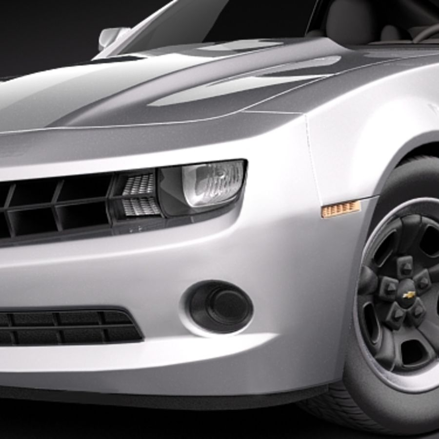 Chevrolet Camaro 2010 royalty-free 3d model - Preview no. 3