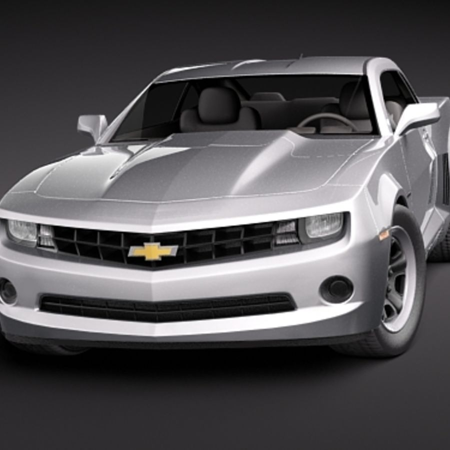Chevrolet Camaro 2010 royalty-free 3d model - Preview no. 2