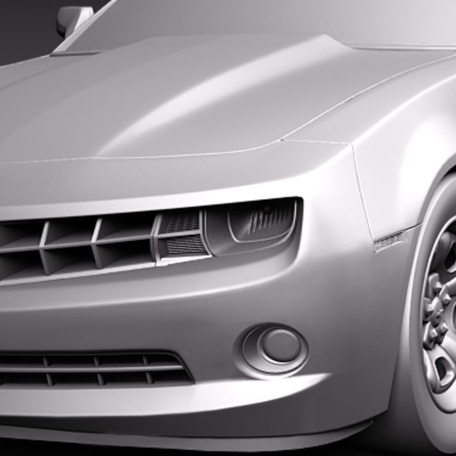 Chevrolet Camaro 2010 royalty-free 3d model - Preview no. 12