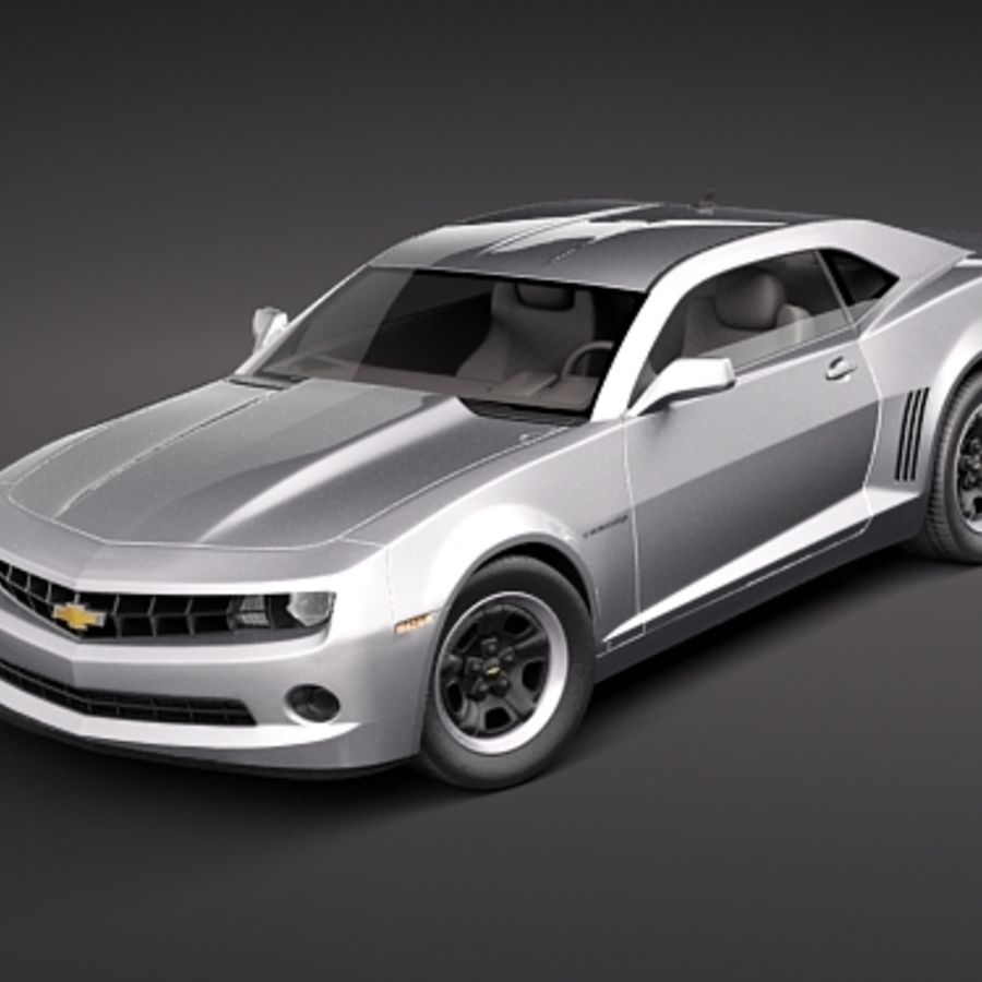 Chevrolet Camaro 2010 royalty-free 3d model - Preview no. 1