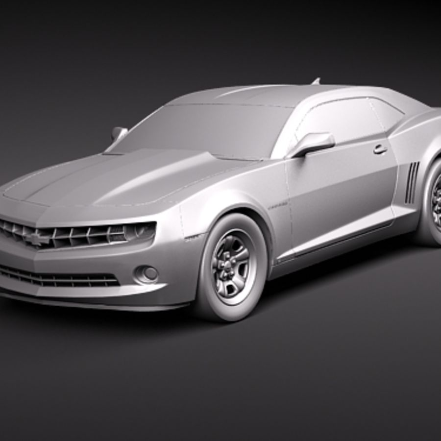 Chevrolet Camaro 2010 royalty-free 3d model - Preview no. 11