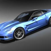 Chevrolet Corvette ZR1 mid-poly 3d model