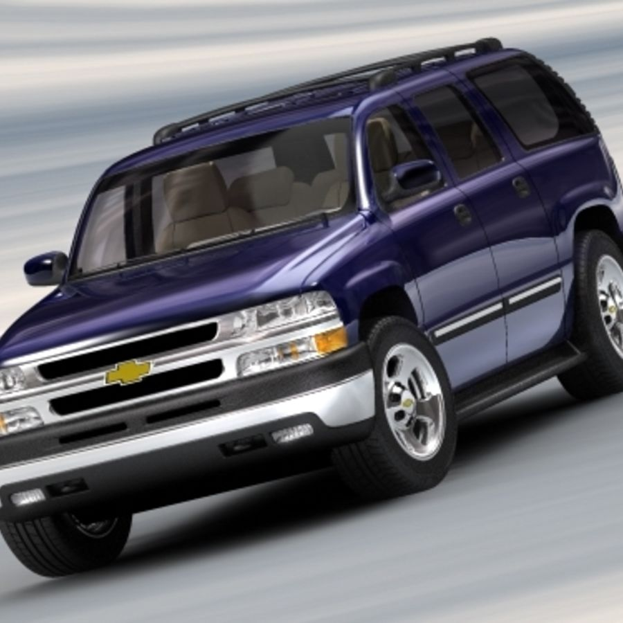Chevrolet Suburban 2002-2006 royalty-free 3d model - Preview no. 5