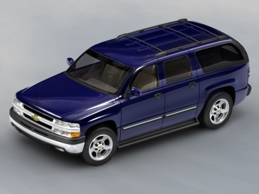 Chevrolet Suburban 2002-2006 royalty-free 3d model - Preview no. 1