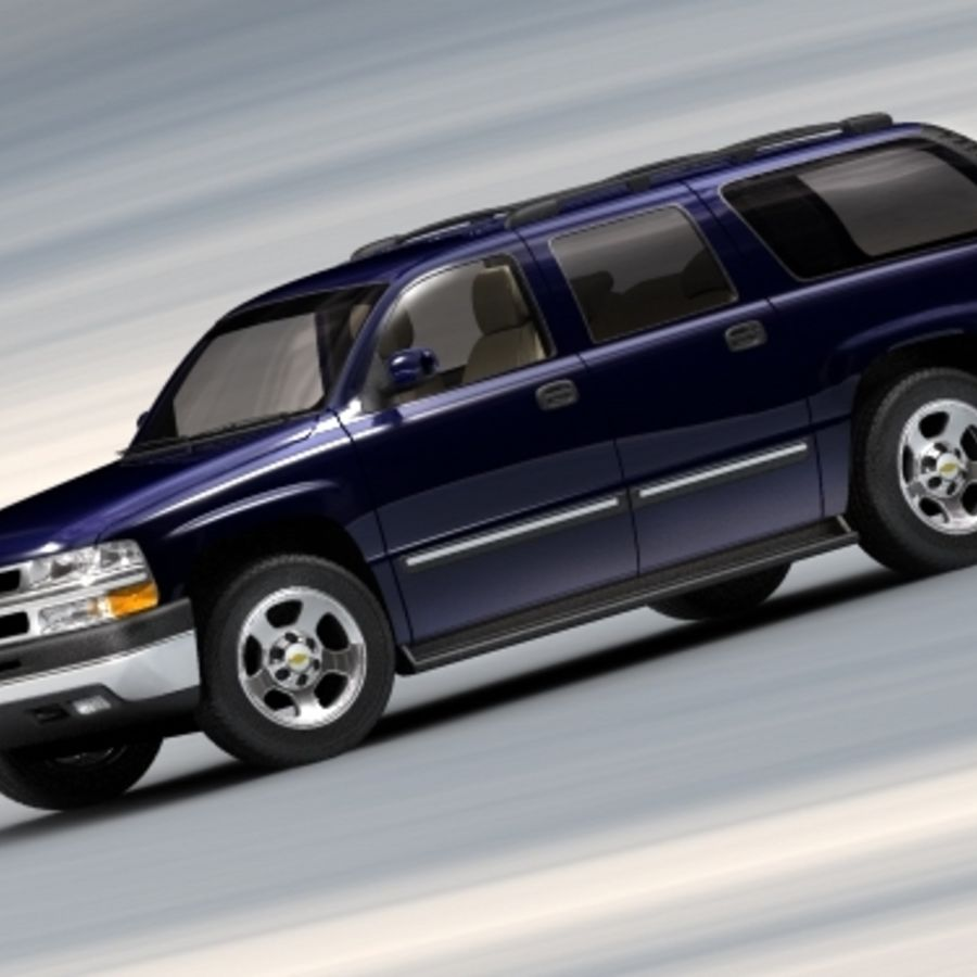Chevrolet Suburban 2002-2006 royalty-free 3d model - Preview no. 4