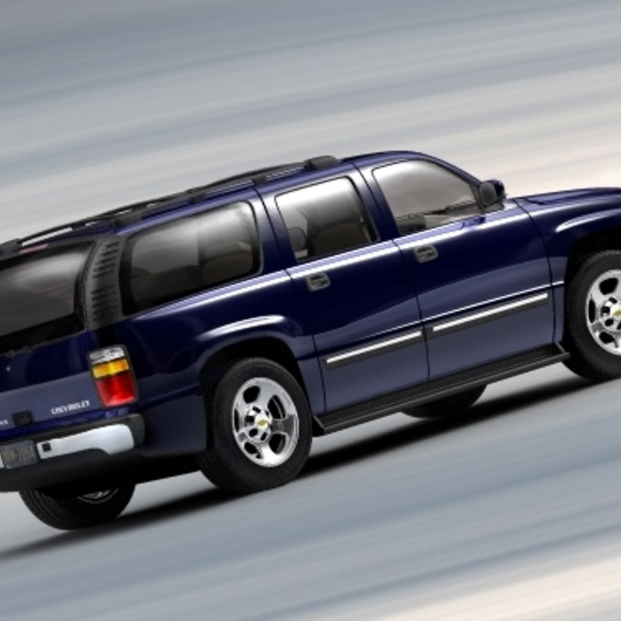 Chevrolet Suburban 2002-2006 royalty-free 3d model - Preview no. 3