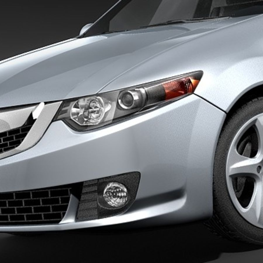 Acura TSX 2009 royalty-free 3d model - Preview no. 3