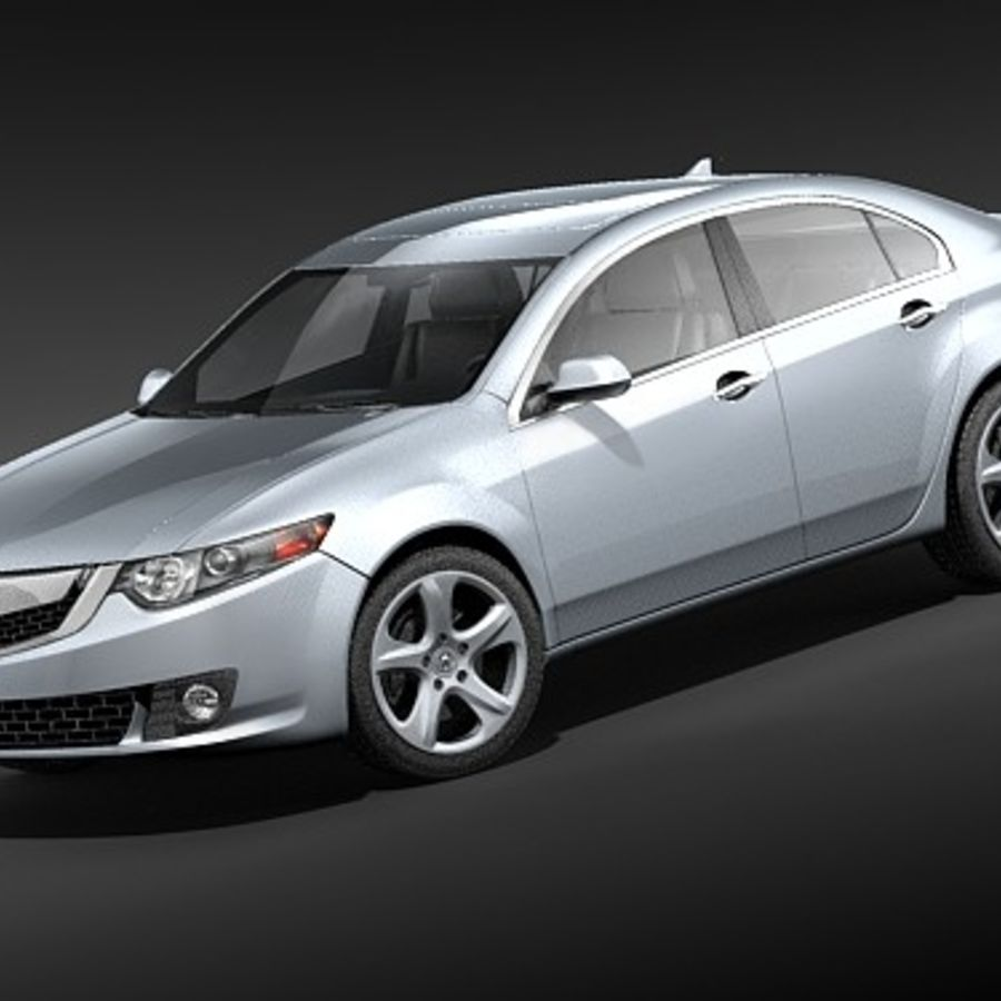 Acura TSX 2009 royalty-free 3d model - Preview no. 1