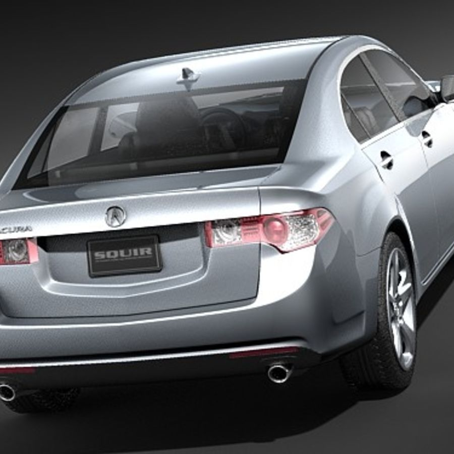 Acura TSX 2009 royalty-free 3d model - Preview no. 6