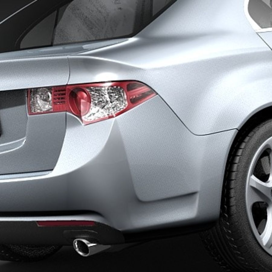 Acura TSX 2009 royalty-free 3d model - Preview no. 4
