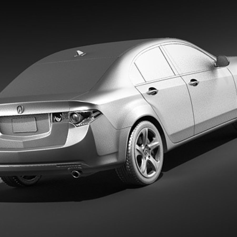 Acura TSX 2009 royalty-free 3d model - Preview no. 10