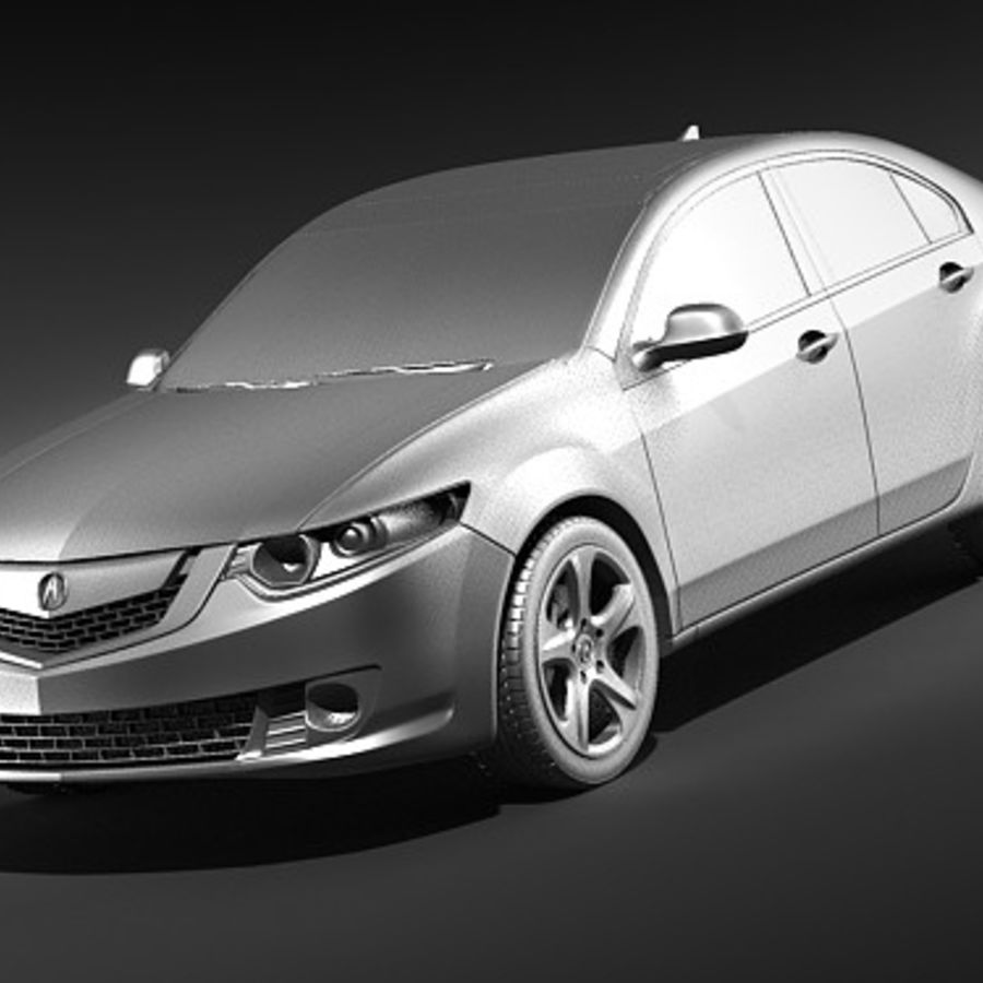Acura TSX 2009 royalty-free 3d model - Preview no. 9