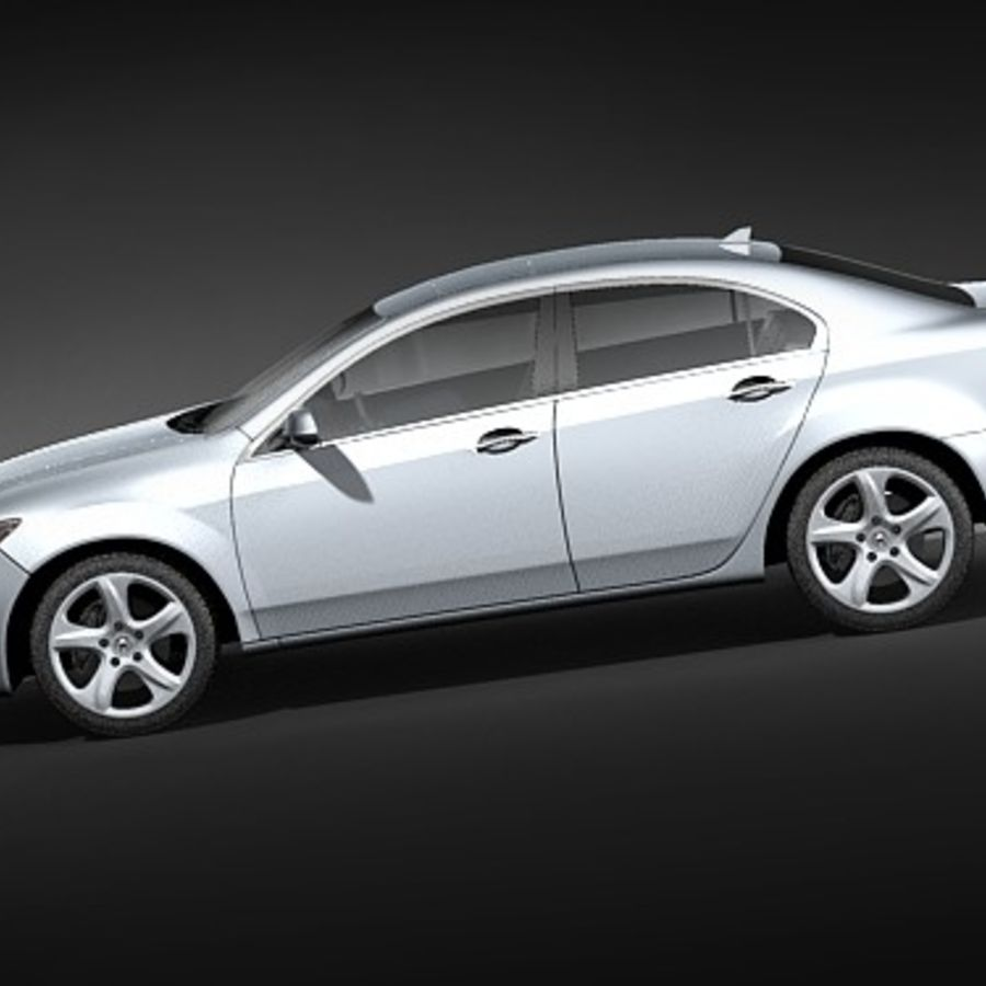 Acura TSX 2009 royalty-free 3d model - Preview no. 7