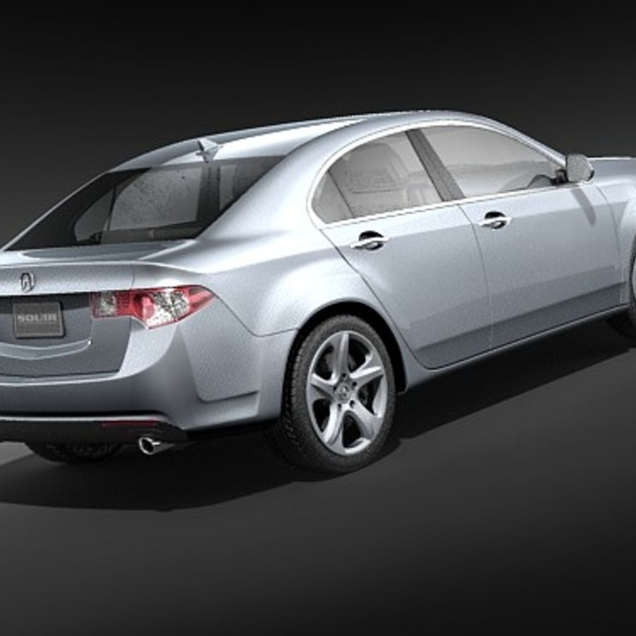 Acura TSX 2009 royalty-free 3d model - Preview no. 5