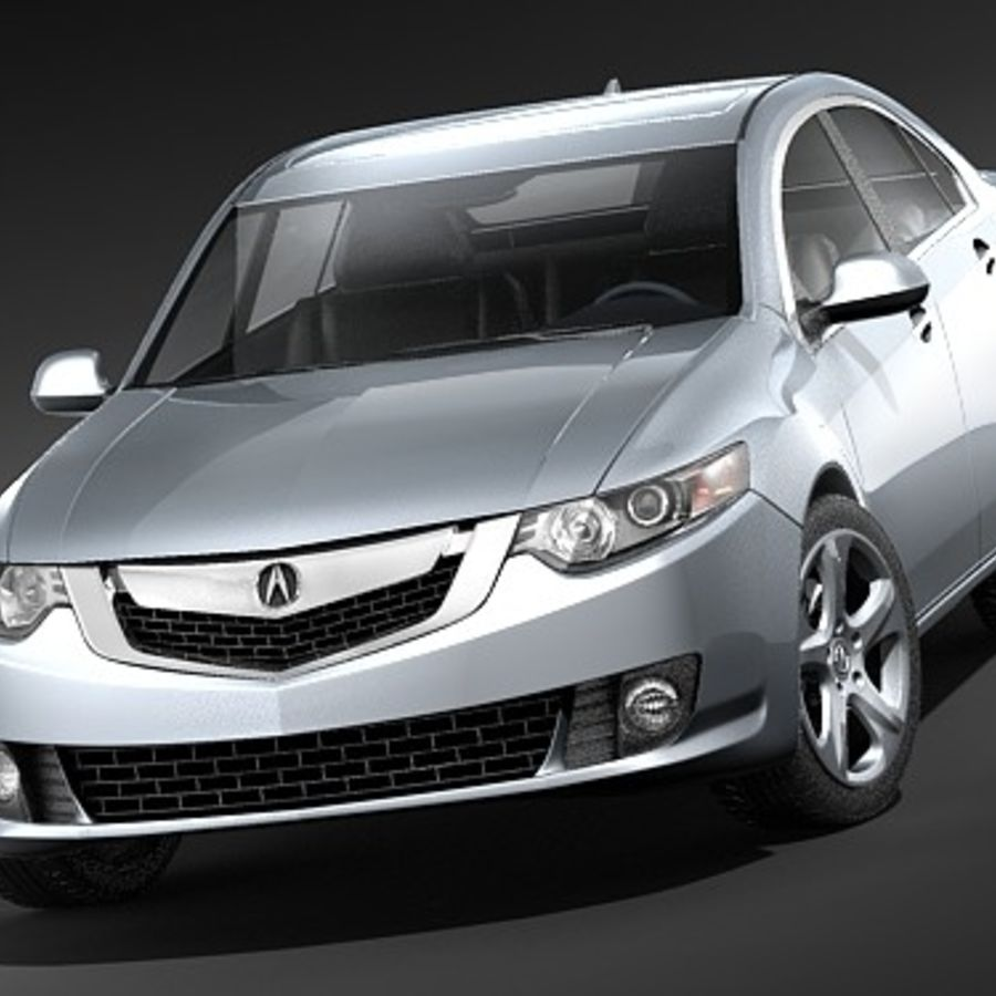 Acura TSX 2009 royalty-free 3d model - Preview no. 2