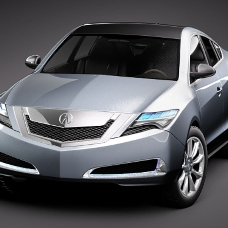 Acura ZDX 2010概念车 royalty-free 3d model - Preview no. 2
