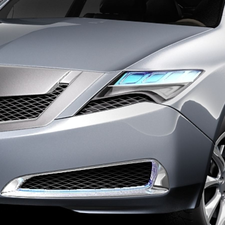 Acura ZDX 2010概念车 royalty-free 3d model - Preview no. 3
