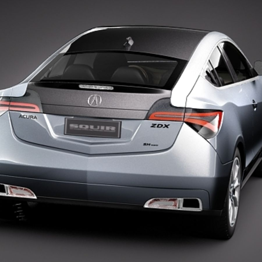 Acura ZDX 2010概念车 royalty-free 3d model - Preview no. 6