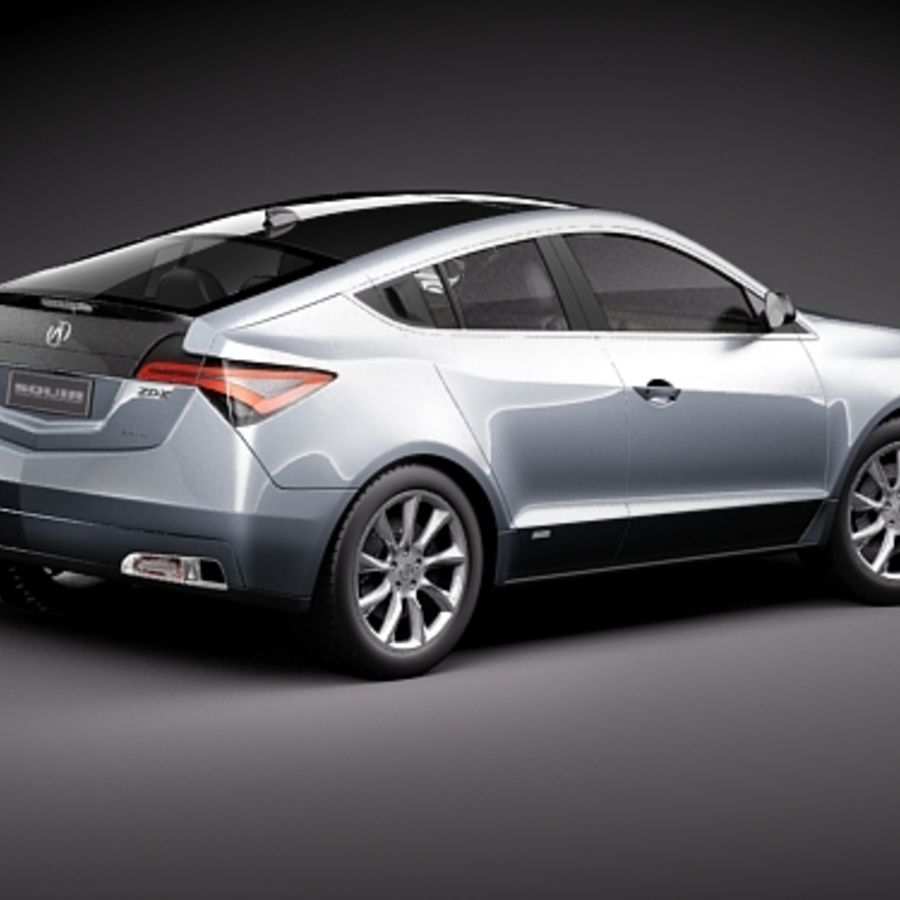 Acura ZDX 2010概念车 royalty-free 3d model - Preview no. 5
