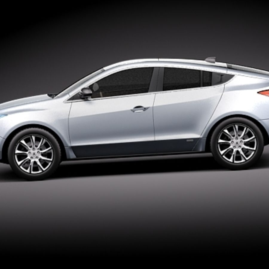 Acura ZDX 2010概念车 royalty-free 3d model - Preview no. 7