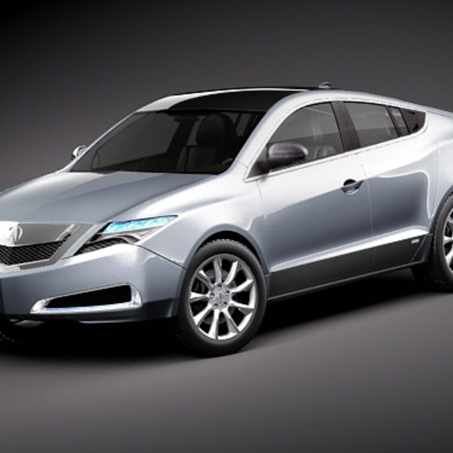 Acura ZDX 2010概念车 royalty-free 3d model - Preview no. 1