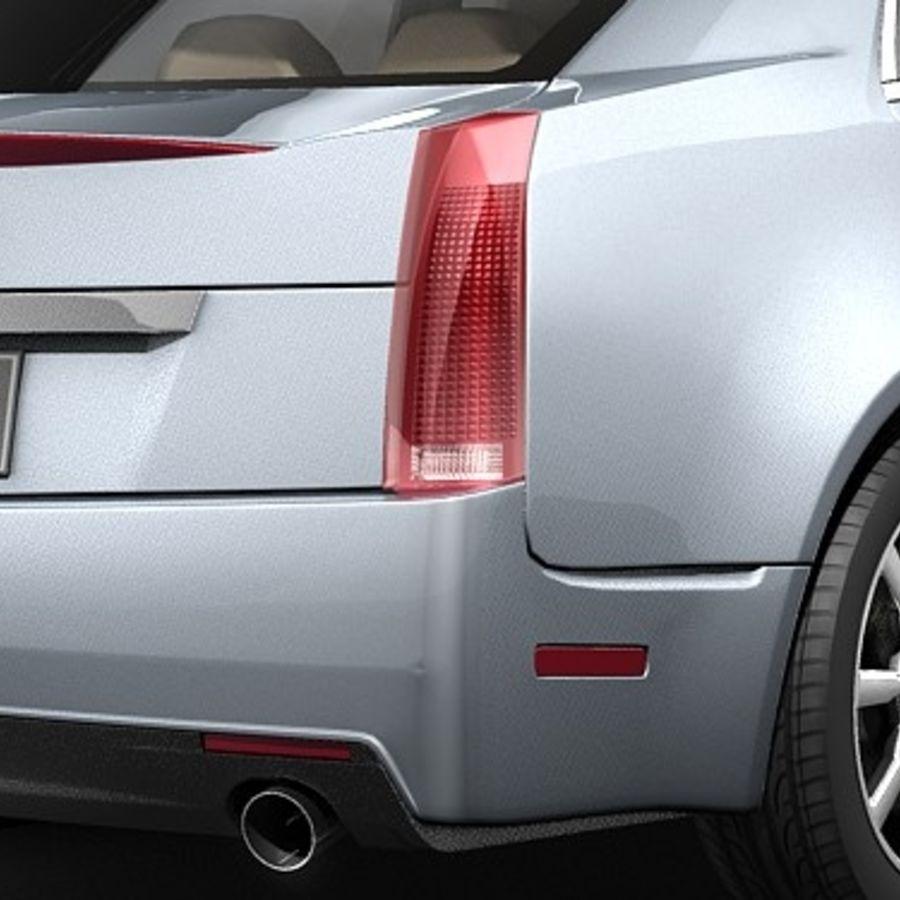 Cadillac CTS 2009 royalty-free 3d model - Preview no. 6