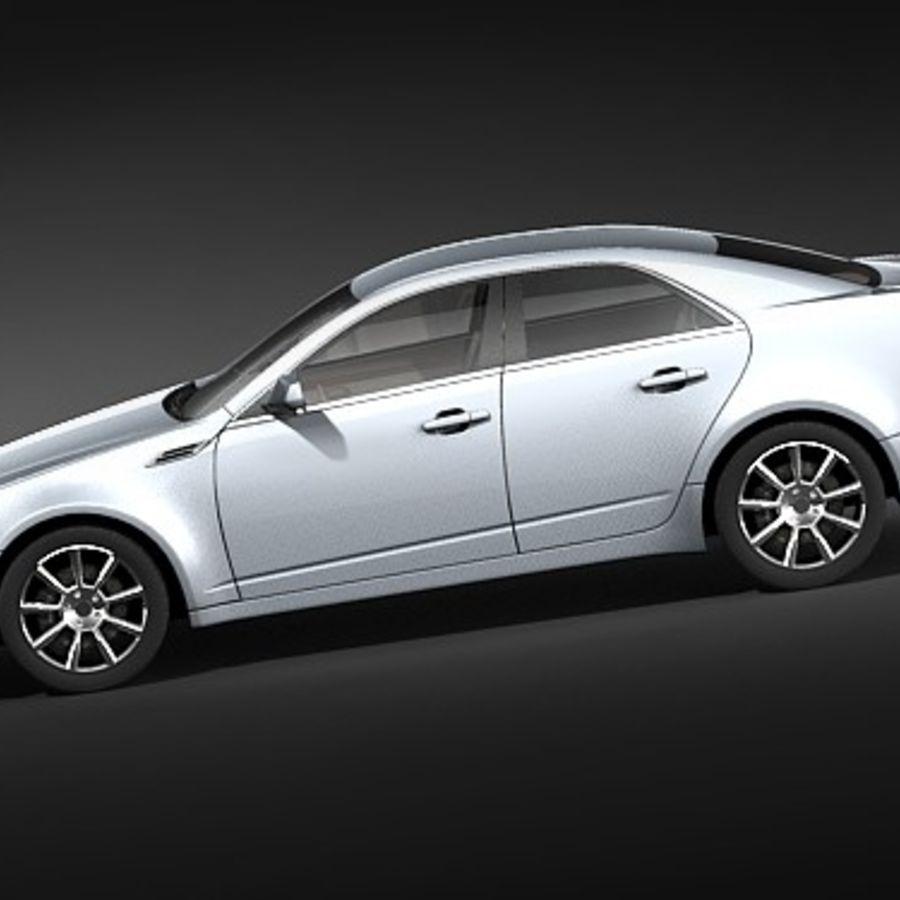 Cadillac CTS 2009 royalty-free 3d model - Preview no. 7