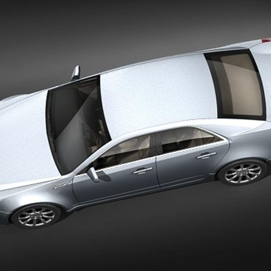 Cadillac CTS 2009 royalty-free 3d model - Preview no. 8