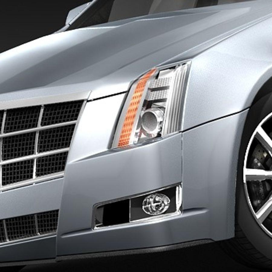 Cadillac CTS 2009 royalty-free 3d model - Preview no. 3