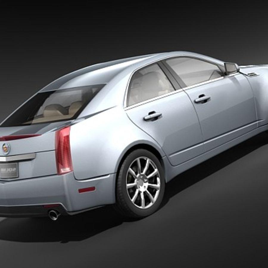 Cadillac CTS 2009 royalty-free 3d model - Preview no. 5