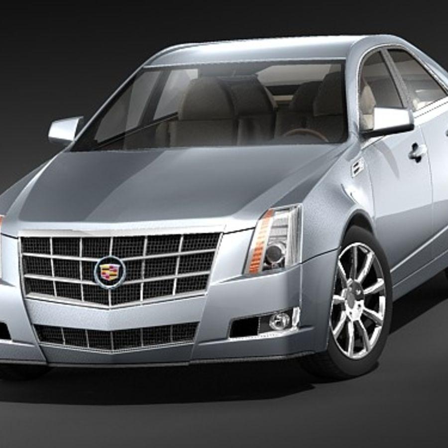 Cadillac CTS 2009 royalty-free 3d model - Preview no. 2