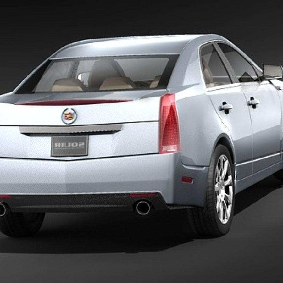 Cadillac CTS 2009 royalty-free 3d model - Preview no. 4